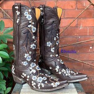 "OLD GRINGO Asian ""Joy"" Cherry Blossom Boots 8.5"
